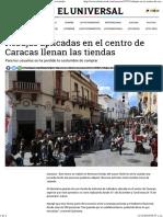 Rebajas Aplicadas en El Centro de Caracas Llenan Las Tiendas