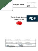 Jab-sgi-pl-003 Plan de Gestión Ambiental
