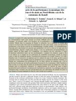 Analyse comparée de la performance économique des cultures de coton et de maïs au Nord-Bénin