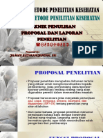 JPS's METLIT Penulisan Proposal I