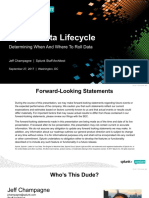Splunk Data Life Cycle Determining When and Where to Roll Data