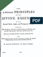 Jacob Böhme Vol 1 - II - Three Principles