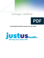 Executive Position Profile-CEO at JustUs Health