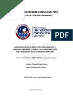 Braul Moreno Presupuesto Proyecto Edificacion