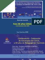 Recorrido Visual Foro 36 Años CEAAL EFPyAI 16nov2018