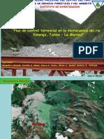 Plan de control torrencial en la microcuenca del rio Yanango, Tarma – La Merced