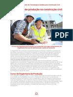 Engenharia de Produção Na Construção Civil