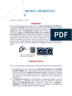 Arduino Sensor Ultrasónico HC SR04