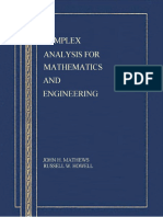 Complex Anlysis for Mathematics and Engineering-Mathews and Howel