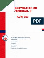 Prestaciones y Servicios adicionales Adm 350 - 2018 Parte i