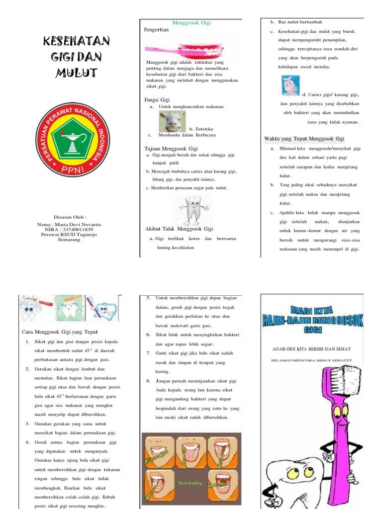 Leaflet Gosok Gigi Print