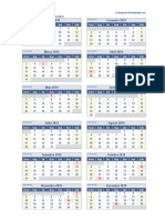 calendario xls 2019