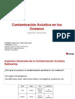 Contaminacion acústica submarina en los Oceanos