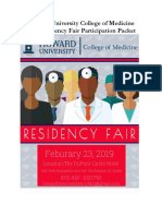 2019 Residency Fair Participation Invitation Packet