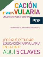 Educación Parvularia en la Universidad Alberto Hurtado - Mejorar la Educación Si Importa