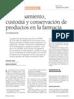 Almacenamiento y Conservacion de Productos Farmacia
