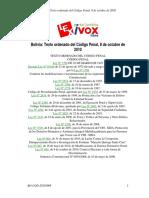 Texto Ordenado Del Código Penal - BO-COD-20101008