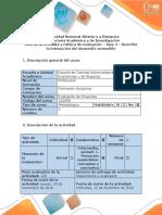 Guía de Actividades y Rúbrica de Evaluación Fase 4 - Describir La Interacción Del Desarrollo Sostenible