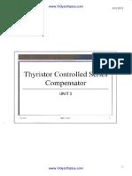 TCSC & Analysis of TCSC