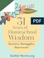 31 Years of Homeschooling Wisdom
