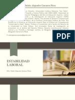 Presentación Del Módulo de Estabilidad Laboral del Diplomado en Derecho Laboral y Procesal Laboral UNANDES