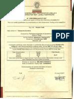 Certificat UT NIV II Veritas (1)