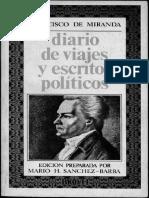 Francisco de Miranda - Diario de viajes y escritos políticos.pdf