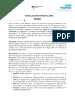 Francais Final Declaration Statement  Caucus des Jeunes Femmes Leaders Africaines