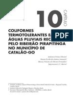 Coliformes Termotolerantes Em Águas Pluviais Recebidas Pelo Ribeirão Pirapitinga No Município de Catalão-go