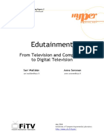 Edutainment from television and computers to digital television