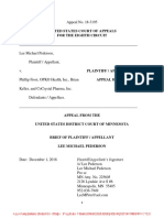 Lee Pederson's Brief to the 8th Circuit in Lee Pederson v Phillip Frost et al.   Filed on December 11, 2018.