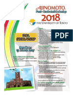 Poster - Ajinomoto Scholarship for ASEAN International Students 2018