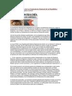 COMPETENCIA DE LA CONTROLARÍA GENERAL DE LA REPÚBLICA