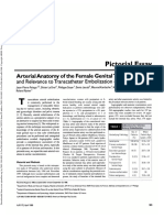 Arterial Anatomy of the Female Genital Tract- Variations and Relevance to Transcatheter Embolization of the Uterus