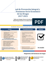 Salud Plan Nacional de Drogas 2017-2021 Para Zona 3act