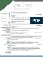 rayna green resume