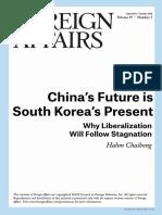 China's Future is South Korea's Present F.a.