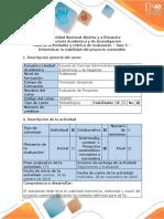 Fase 3 - Determinar La Viabilidad Del Proyecto Sostenible