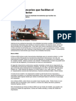 Servicios Bancarios Que Facilitan El Comercio Exterior