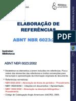 Elaboração de referencias Ufc ABNT