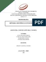 Trabajo monográfico sobre el método científico - ULADECH