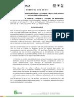 Decreto 476 de 2018 calamidad puìblica dic 2018 acta del consejo y fecha del decreto 11 deciembre de 2018 firmado