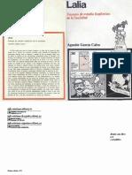 Calvo, A.G., 1973. Lalia. Ensayos de estudio lingüístico de la sociedad. Siglo XXI de España Editores