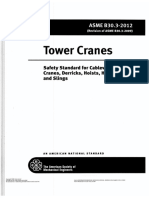 ASME B30.3-2012 Tower Cranes