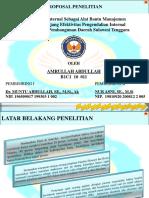 Peran Audit Internal Sebagai Alat Bantu Manajemen  Dalam Menunjang Efektivitas Pengendalian Internal  Pada PT. Bank Pembangunan Daerah Sulawesi Tenggara