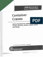 ASME B30.24-2013 Container Cranes