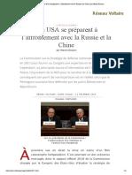 Les USA se préparent à l'affrontement avec la Russie et la Chine, par Manlio Dinucci