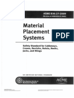 ASME B30.27-2009 Material Placement Systems