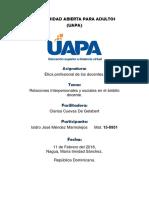 Tarea 5 Relaciones Interpersonales y Sociales en El Ambito Docente