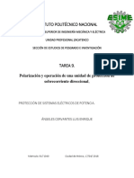 Polarización y operación de una unidad de protección de sobrecorriente direccional.